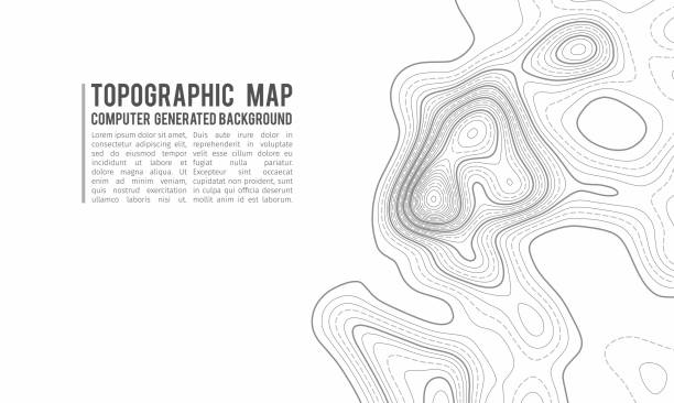 Topographic map contour background. Topo map with elevation. Contour map vector. Geographic World Topography map grid abstract vector illustration . Mountain hiking trail line map design Topographic map contour background. Topo map with elevation. Contour map vector. Geographic World Topography map grid abstract vector illustration . topography stock illustrations