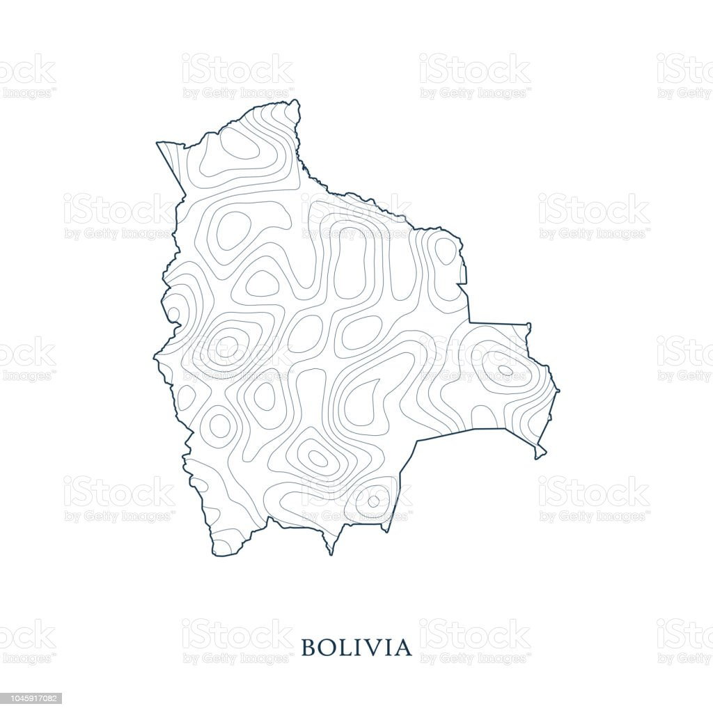 Topographic Map Contour Of Bolivia Stock Illustration - Download