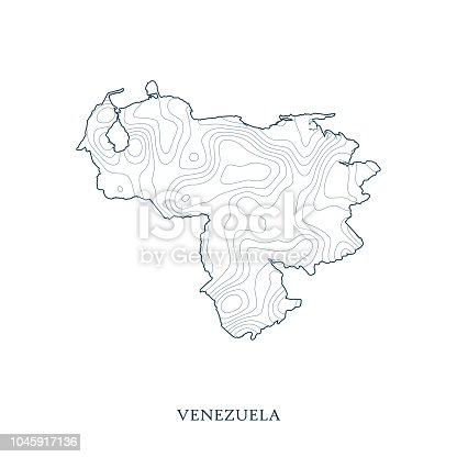 Venezuela Topographic Map.Topographic Map Contour Of Venezuela Stock Vector Art More Images