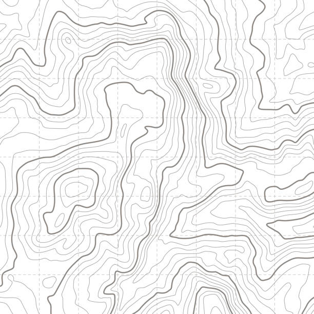ilustrações de stock, clip art, desenhos animados e ícones de topographic map. geographical location lines, cartography contour line nature trails relief texture image. mapping grid vector concept - latitude