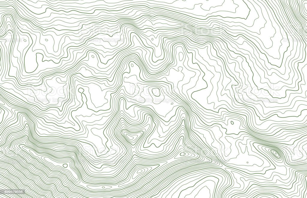 Topographic map in mountainous terrain