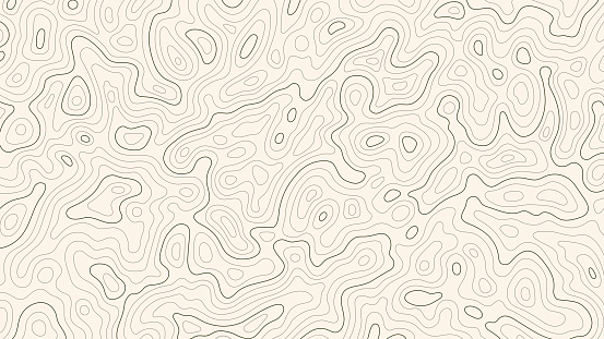 Topographic map patterns, topography line map. Vintage outdoors style.