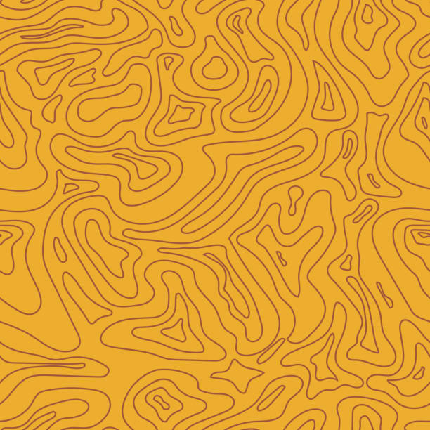 Topographic Map Seamless Pattern.  Vector Background Topographic Map yellow Seamless Pattern.  Vector Background land feature stock illustrations
