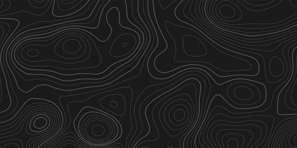 Topographic map terrain texture and landscape grid abstract vector background Topographic map terrain texture and landscape grid abstract vector background topography stock illustrations