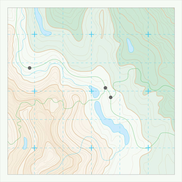 Topographic map Topographic map with contour lines. contour line stock illustrations