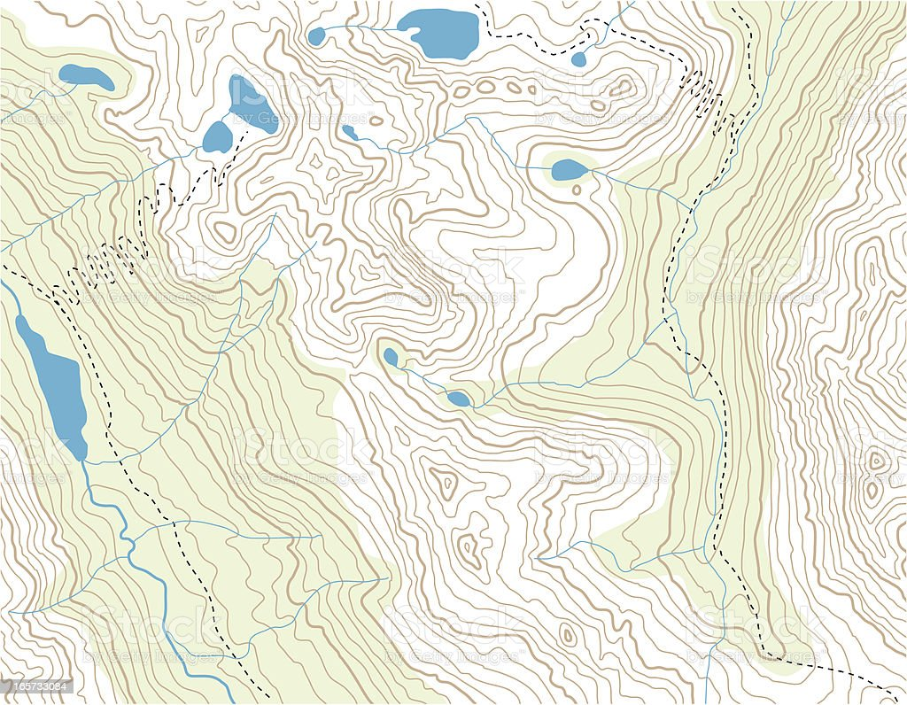 Topographic Map vector art illustration