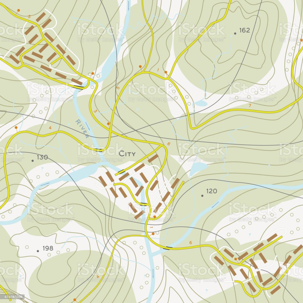Topographic Map Stock Illustration - Download Image Now - iStock