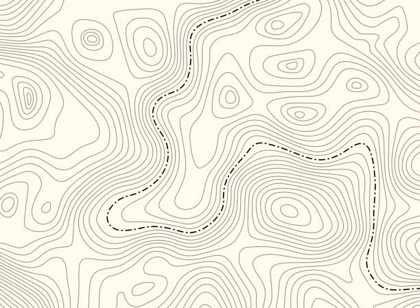 Topographic map with border, vector background. Topo contour map with boundary. Vector illustration. topography stock illustrations