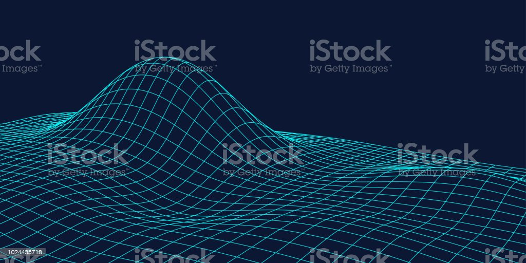 3D topographic maps, contour lines. Abstract dotted line technology background, similar to the concept of cloud data connection, blockchain, neural network.
