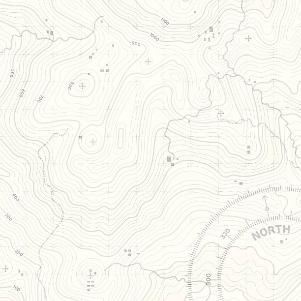 Topographic Terrain Topographic map background concept with space for your copy. EPS 10 file. Transparency effects used on highlight elements. hiking stock illustrations
