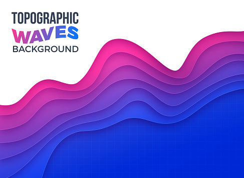 Topographic Waves Layers Depth Abstract Background