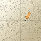A topographic map pattern on background.