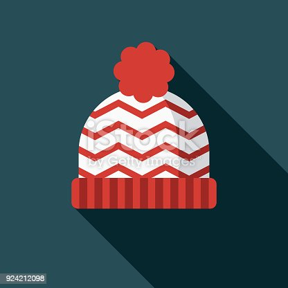 istock Toque Flat Design Canadian Icon with Side Shadow 924212098
