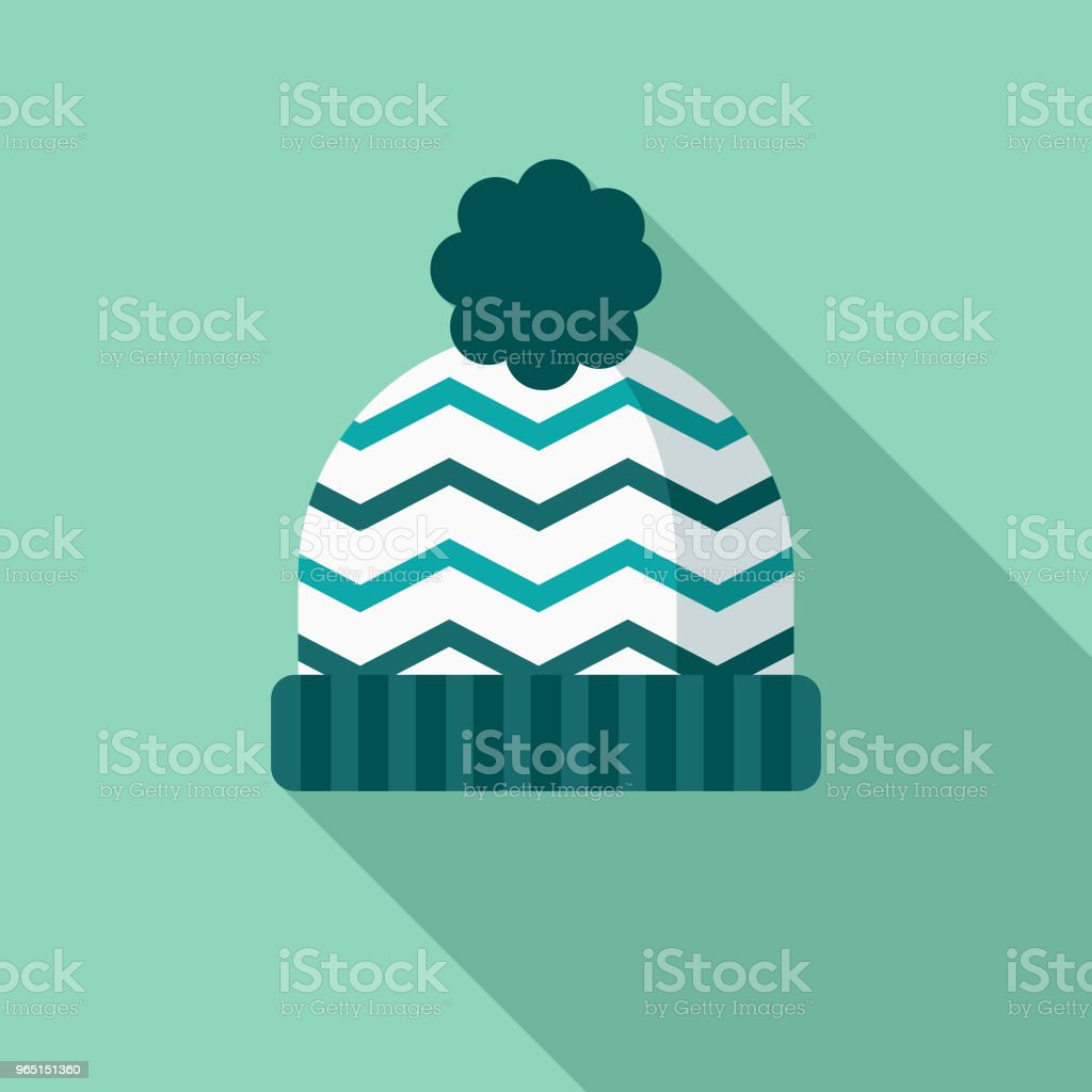 Toque Flat Design Winter Icon with Side Shadow royalty-free toque flat design winter icon with side shadow stock vector art & more images of blue