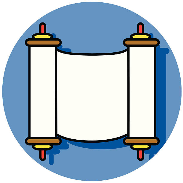 Torah icon A vector icon of the Torah. moses religious figure stock illustrations