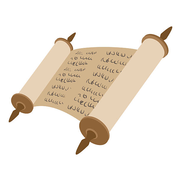 Royalty Free Torah Scroll Clip Art, Vector Images & Illustrations