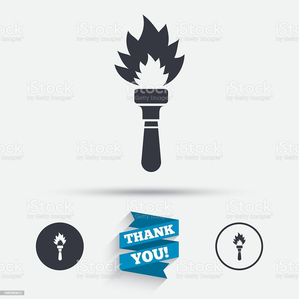 Torch flame sign icon. Fire symbol. royalty-free torch flame sign icon fire symbol stock vector art & more images of badge