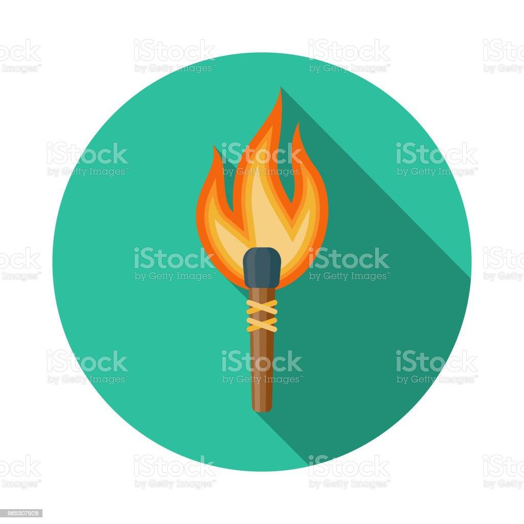 Torch Flat Design Fantasy Icon torch flat design fantasy icon - stockowe grafiki wektorowe i więcej obrazów antyczny royalty-free