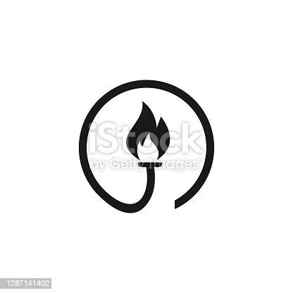 istock torch icon template,design vector creative concept idea idea 1287141402