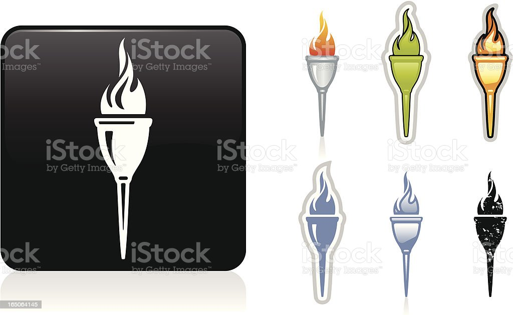 Torch Icon royalty-free stock vector art