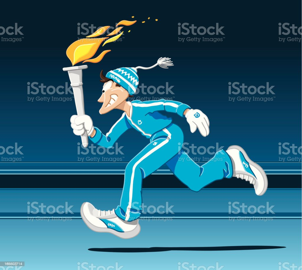 Torch Runner Winter royalty-free torch runner winter stock vector art & more images of adult