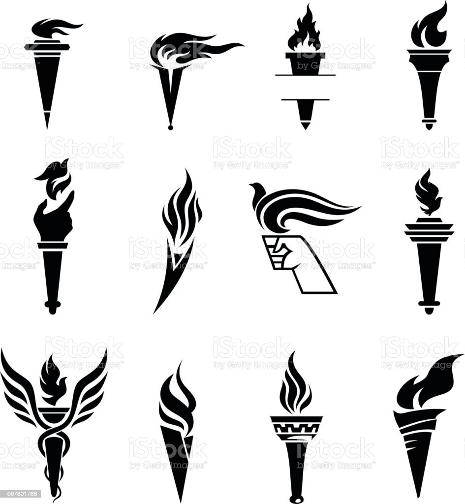 Torch vector art illustration