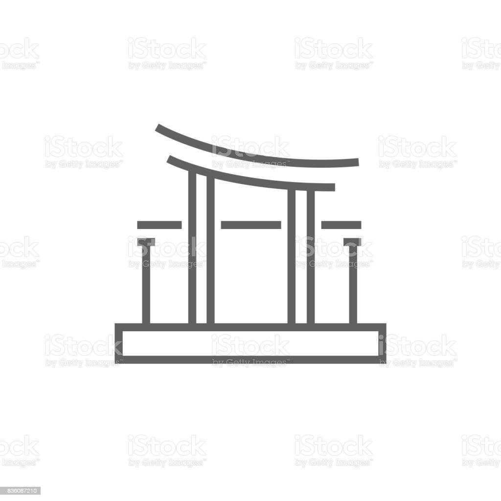 torii gate drawing - HD1024×1024