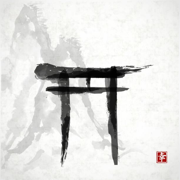 torii gate tattoo - 612×612