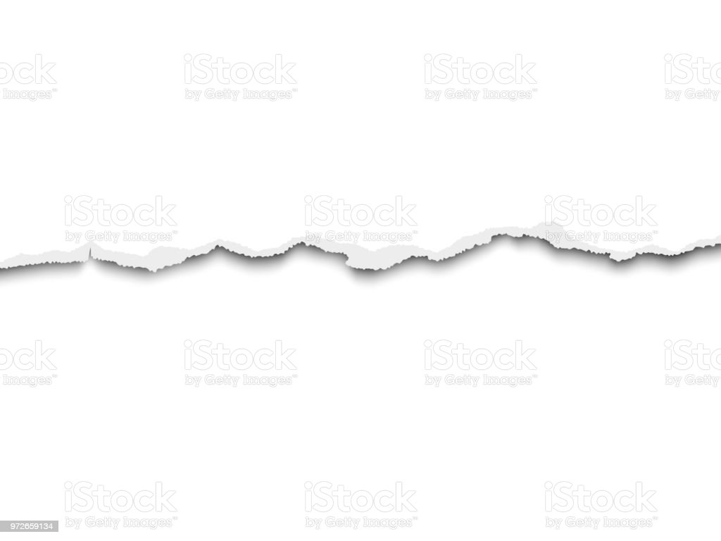 Torn a half sheet of white paper from the bottom. Vector template paper design. vector art illustration
