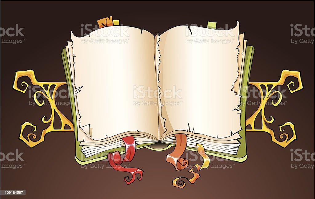 Torn book royalty-free stock vector art