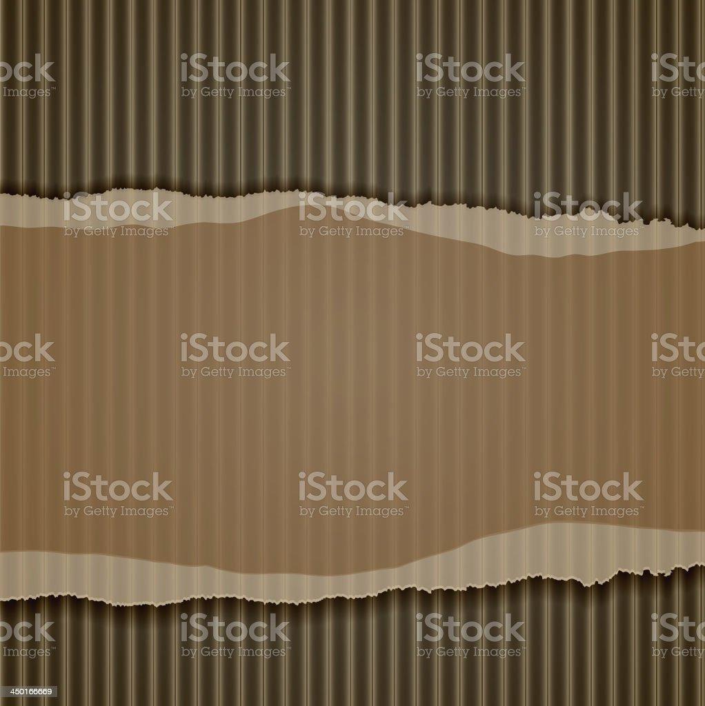 torn corrugated cardboard border vector art illustration