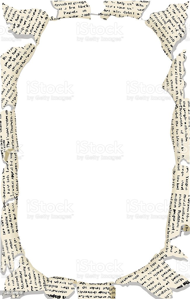 Torn Newspaper Frame C Stock Vector Art & More Images of Copy Space ...