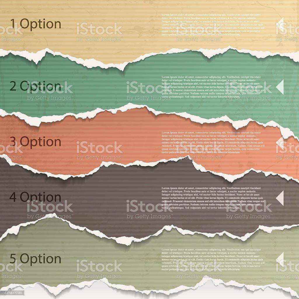 Torn paper background images for a presentation vector art illustration