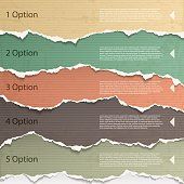 Torn paper background images for a presentation