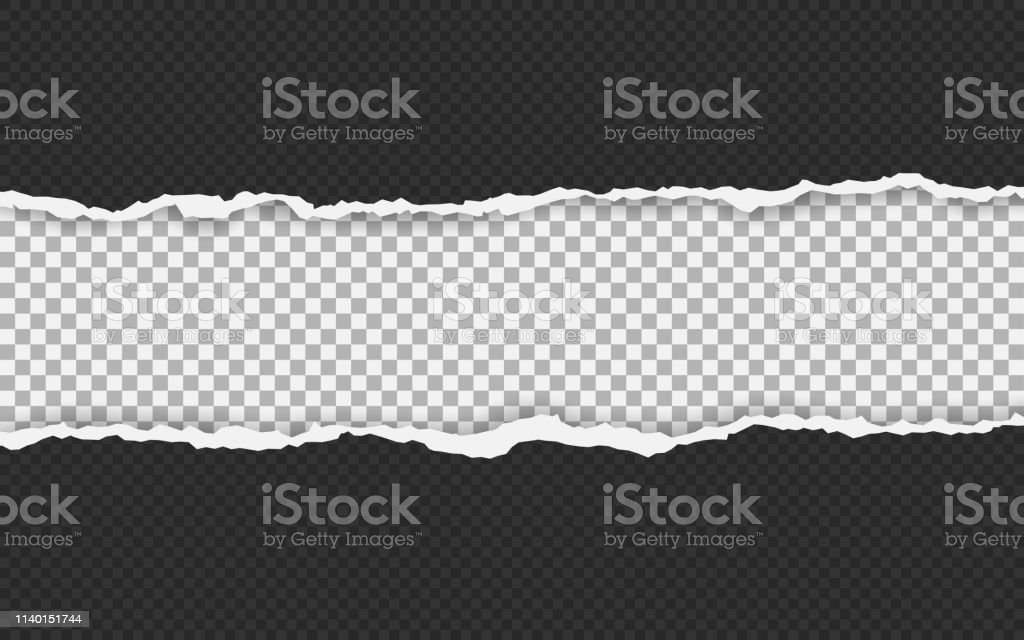 Torn paper edge. Torn paper stripes. Ripped squared horizontal paper...