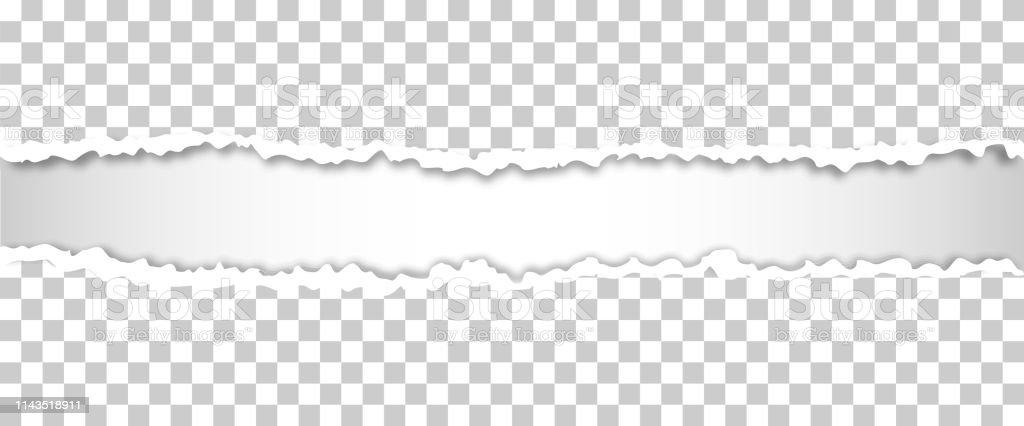 Torn paper edges, vector illustration