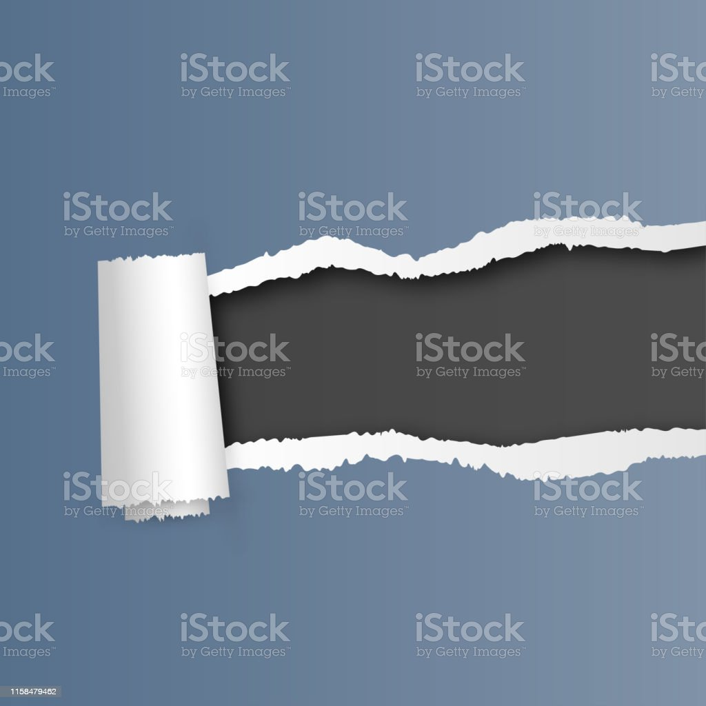 Ripped sheet of paper. Square vector illustration for designs,...