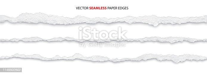 istock torn paper edges, vector 1145502502