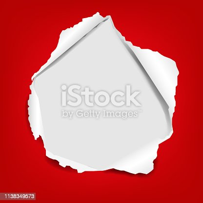 Torn Paper Isolated With Gradient Mesh, Vector Illustration