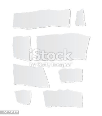 torn paper on white background vector