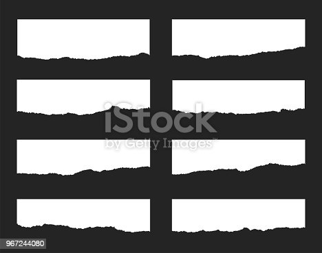 Torn paper set. Vector illustration