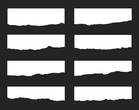 Torn paper set. Vector illustration