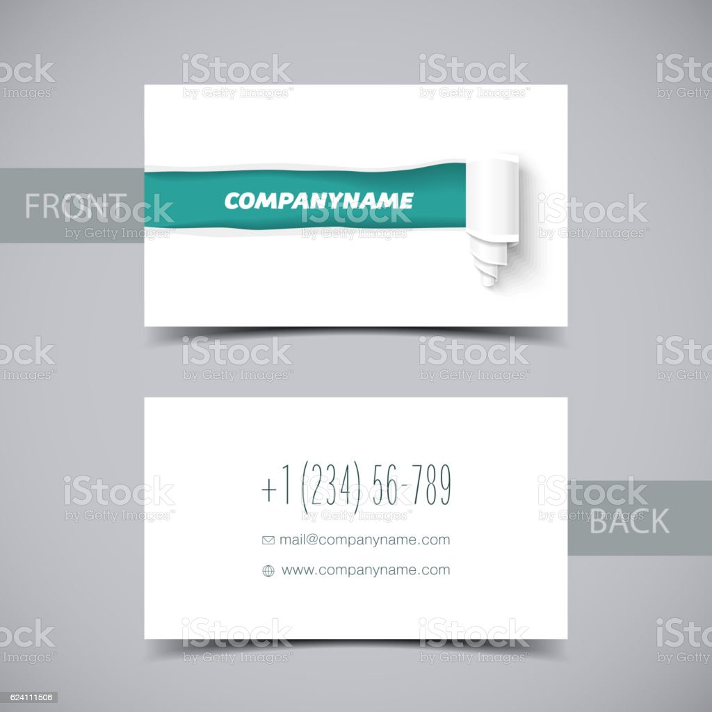 torn paper template for business card sale promo and advertising