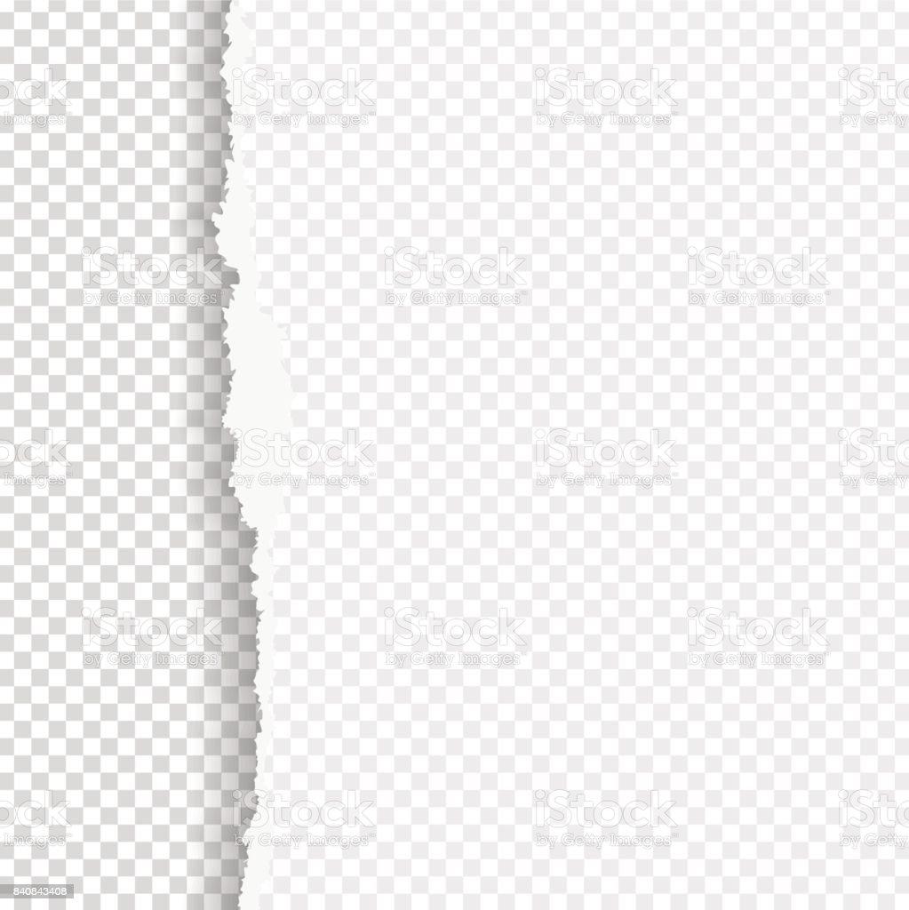 Gescheurd papier met geripte rand - Royalty-free Aan de kant van vectorkunst
