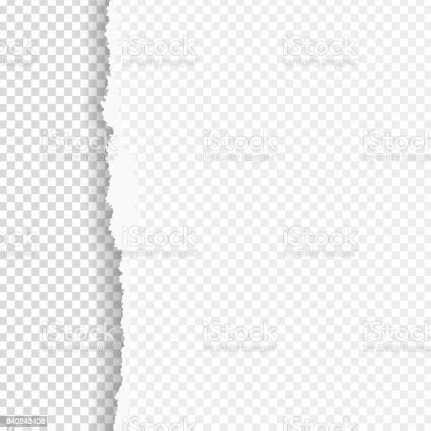 Gescheurd Papier Met Geripte Rand Stockvectorkunst en meer beelden van Aan de kant van