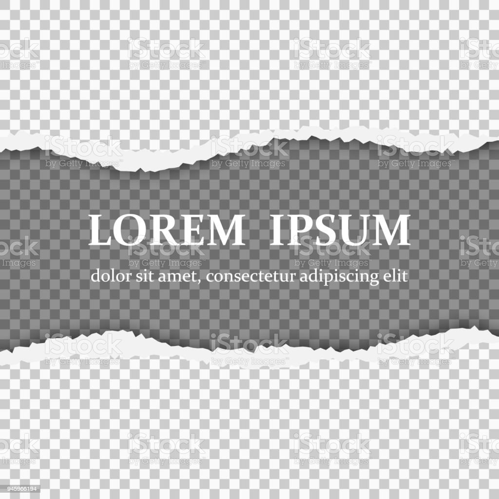 Torn Paper With Ripped Edges Stock Illustration - Download Image Now
