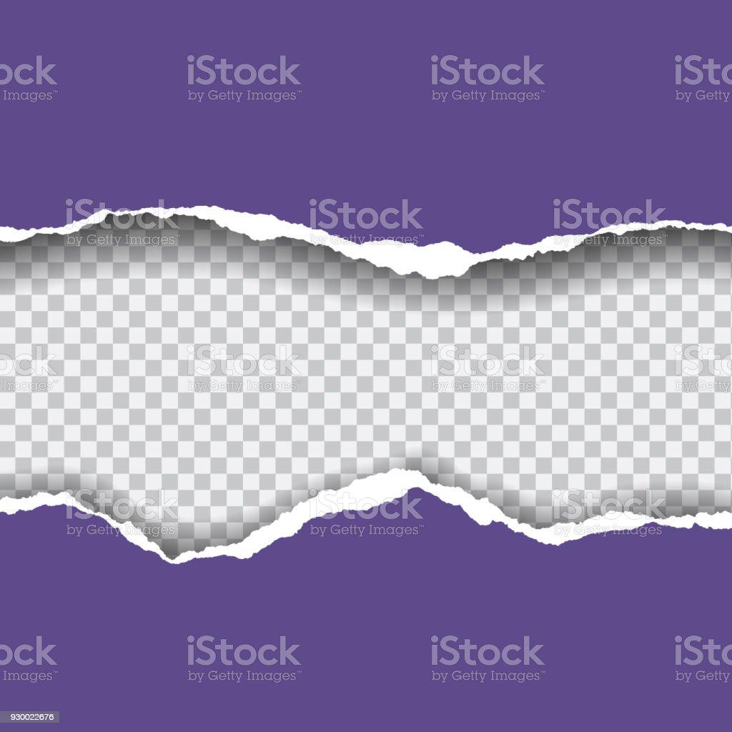 Papier déchiré avec espace pour texte - vecteur isolé sur fond transparent - clipart vectoriel de Abstrait libre de droits