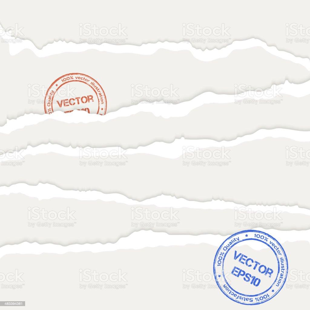 Torn paper's sheets vector art illustration
