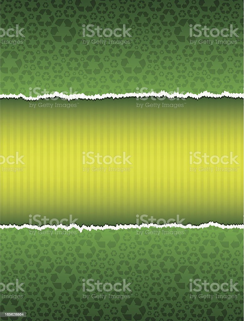 Torn recycling symbolbackground royalty-free stock vector art