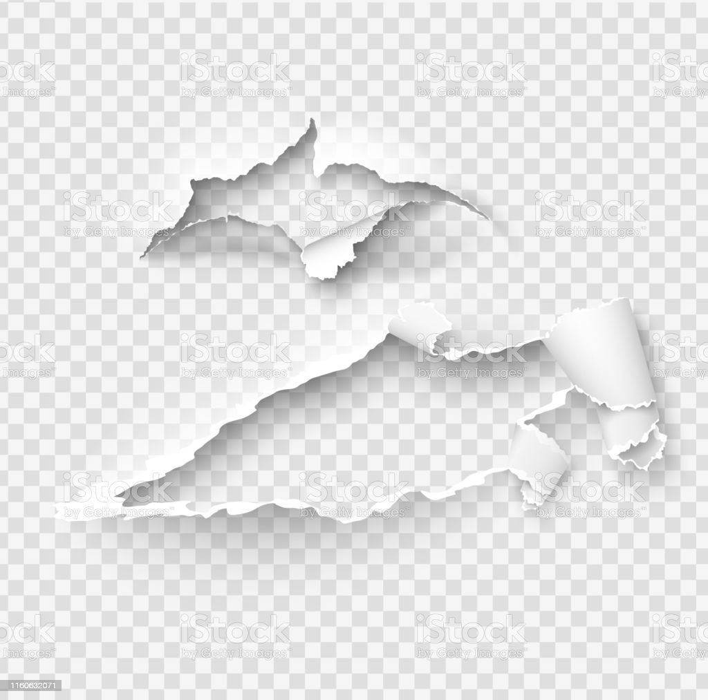 Torn ripped paper vector template, sides with ripped edges on...